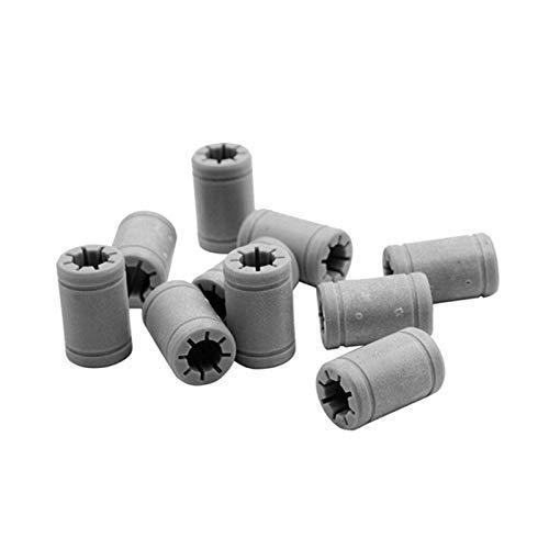 CLJ-LJ 10pcs plástico 8 mm linear anet cojinete igual que Rj4Jp-01-08 rodamiento de bolas para anet A8 Prusa I3 3D impresora