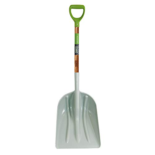 AMES 2682700 Poly Scoop with Hardwood Handle and D-Grip, 46-Inch