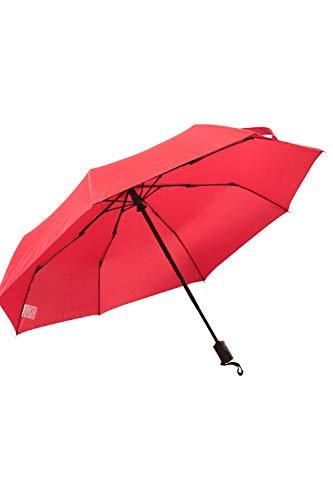 Mountain Warehouse Windfester Schirm - Schnelltrocknender Sonnenschirm, stoßfester Gartenschirm, Schirmschaft aus Edelstahl, leicht zu benutzen - Für Picknick Rot