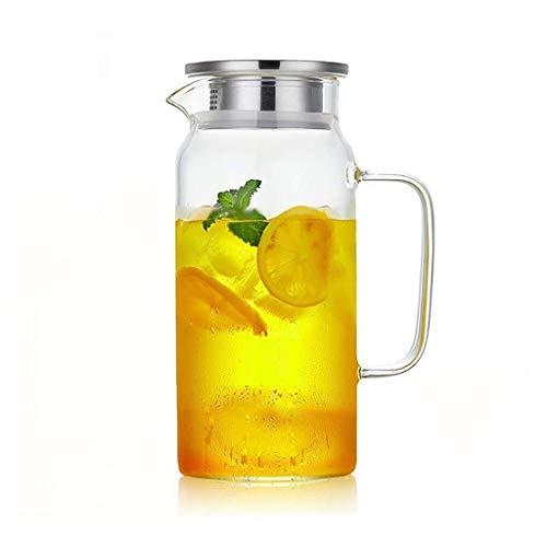 HJYSQX Jarra de Vidrio de Tetera Taza de Agua fría Botella de Agua hirviendo de Gran Capacidad para el hogar Vaso de Jugo de Vidrio Resistente al Calor Resistente al Calor a Prueba de explosión Jar