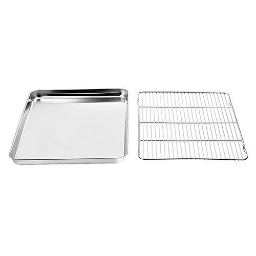 Backblech-Set Edelstahl-Backblech mit Kühlregal, sicheres, professionelles Spiegelfinish - 40 x 30 x 2,5 cm / 31 x 24 x 2,5 cm / 23 x 17 x 2,5 cm (31x24x2.5cm)