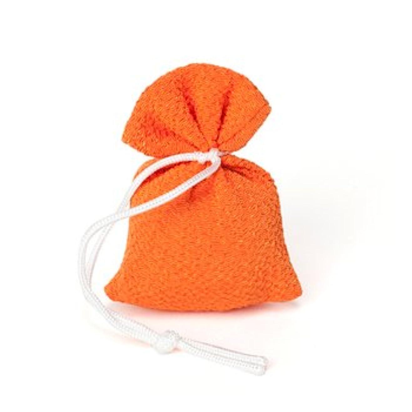 松栄堂 匂い袋 誰が袖 上品(無地) 1個入 (色をお選びください) (橙)