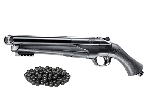 T4E UMAREX HDS .68cal High Power (16 Joules) HSA Custom Double Barrel Paintball & Rubberball Marker w/Free 25 .68cal RubberBalls