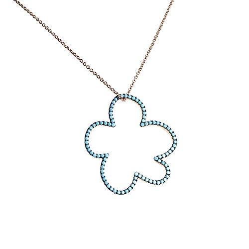 Gargantilla plata Ley 925m rosada Agatha Ruiz de la Prada 47cm. colección Carmela nube puntos azules