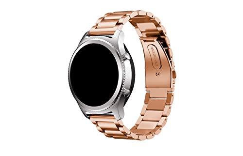 Correa de Reloj de Acero Inoxidable, Compatible con Huawei Watch GT/Reloj GT2E / Reloj GT2, Correa de Metal, Ancho de Correa: 20 / 22mm Zhenzhiyangshangmao (Color : Rose Gold, Size : 20mm)