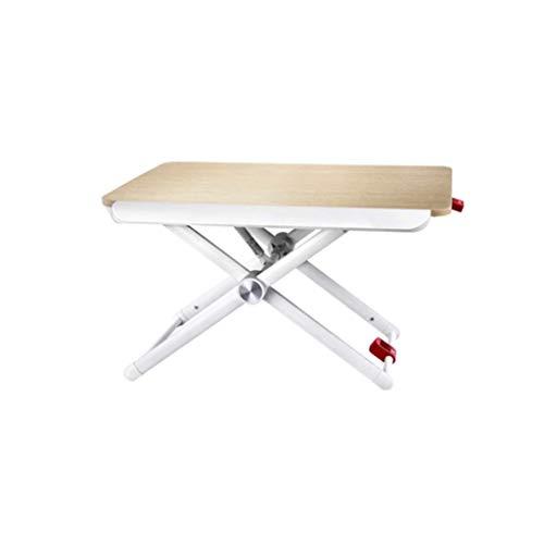 ZXL Laptopbureau, kan multifunctionele meervoudig openklapbare tafel optillen, 60 cm x 41 cm.