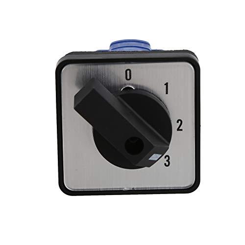RETYLY Ui 660 V Ith 20 A Rotary Selector 0–3 Position Umschalter Nockenschalter Schwarz + Weiß
