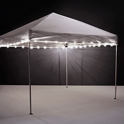Brightz Canopybrightz LED Light Rope for Canopy and Umbrellas, White - 40-Foot Ultra Bright White LED Light String - Battery Powered Light - Colorful Lights for Parties, Events, and Tailgating