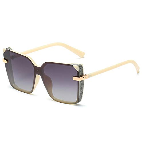 WOXING Tendencia Gafas,Conducir Aire Libre Deportes Viajes Pesca Gafas,Mujere Mujer Gafas De Sol, Ligeras Polarizadas Gafas-Blanco 14.3x5.6cm(6x2inch)