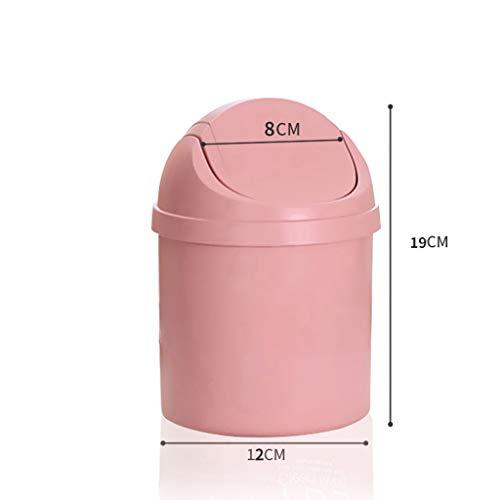 SPARROW Desktop vuilnisbak met deksel Kleine compacte Opbergmand voor Woonkamer, Slaapkamer, Kantoor, Bureau Papiermand Kunststof