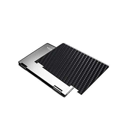 VacFun 2 Piezas Protector de pantalla Posterior, compatible con Lenovo Yoga 710 14', Película de Trasera de Fibra de carbono negra Skin Piel