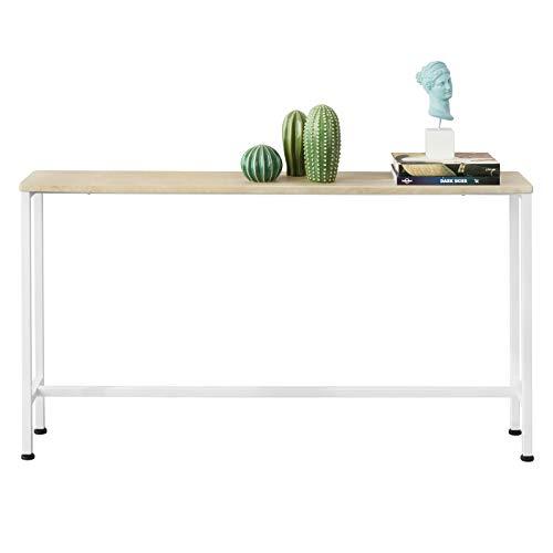 SoBuy FSB19-Z Table Console Table d'appoint Bout de canapé Table d'entrée Cadre et 4 Pieds en Fer - L120cm x P20cm x H65cm