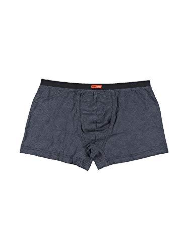 emilio adani Herren Formbeständige Boxershorts mit stylischem Muster, 30067, Blau in Größe M