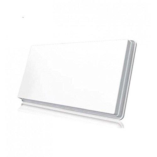 Selfsat Parabole Satellite Plate 1 Sortie avec LNB intégré + Kit Fixation Fenêtre