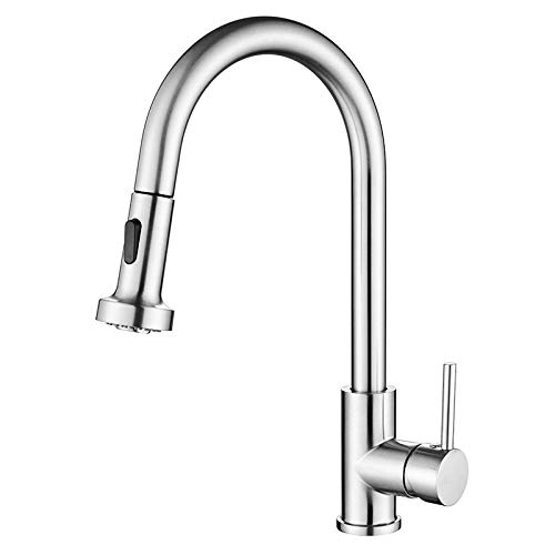 Kitchen Faucet with Pull Out Spray (Chrome)