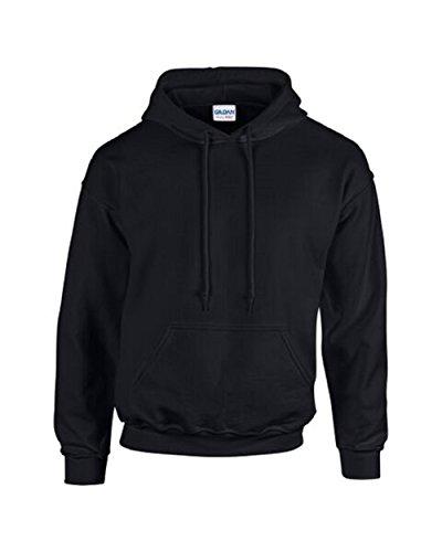 Gildan Gilden Kapuzen-Sweatshirt für Erwachsene  Herren Damen Heavy Blend Pullover Hoodie Gr. L, Schwarz