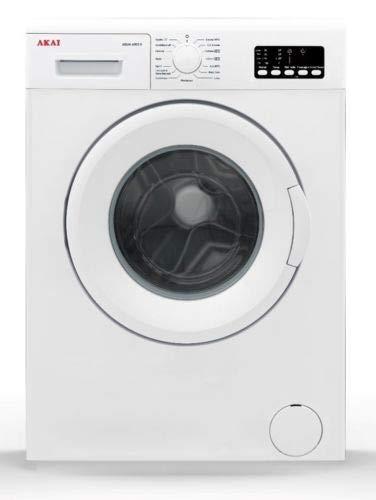 AKAI AQUA6003V/T, Lavatrice autonoma, Capacità 6 Kg, 1000 Giri/min, Classe A++, 84.5 x 59.7 x 49.7 cm, Colore Bianco