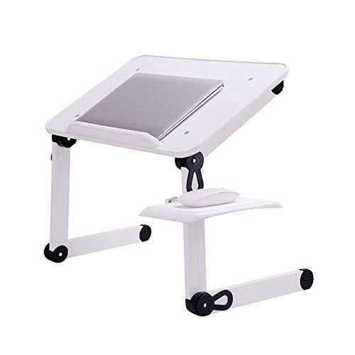 DZWLYX Multifunktion Notebooktisch Für Lesen Oder Frühstücks Und Zeichentisch Laptops Höhenverstellbar Faltbare Sofa Tisch (Color : White K, Size : 48x30x30cm)