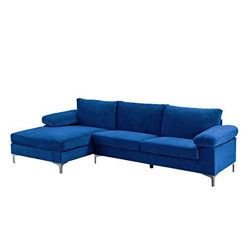 Casa Andrea Milano Large L-Shape Couch With Chaise