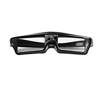 Goswot 144Hz Rechargeable DLP Active Shutter Eyewear for Optoma Acer Vivitek Dell LG and All The Other DLP-Link Projectors