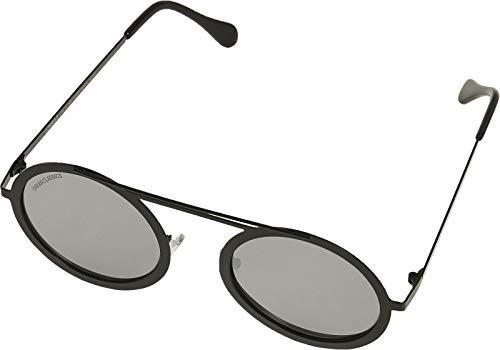 Urban Classics Unisex 104 Chain Sunglasses Sonnenbrille, Silver Mirror/Black, one size