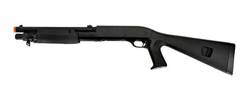 Double Eagle Pump Action Tri-Shot Spring Powered Airsoft Shotgun - High Power 3 Shot Burst
