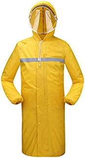Xxadliy Long Raincoat Outdoor Thickening Windbreaker Poncho, Suitable for Camping/Hiking/Travel/Sports, Multi-Color Optional (Color : Yellow, Size : XXXXL)