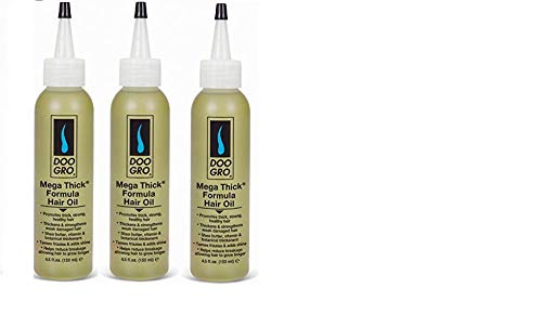 DOO GRO Mega Thick Hair Oil, 4.5 oz (3PCS) WITH SHEA BUTTER