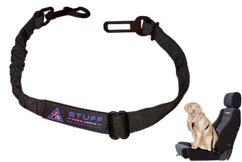 stuff from above® Universal Hunde-Sicherheitsgurt für das Auto mit Ruckdämpfung - längenverstellbar 50-80cm - elastisch und bequem passend für Jede Hunderasse & Autotypen