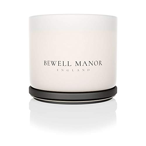 BEWELL MANOR Vetiver, Lemongrass & Jasmine Natural Luxury Essential Oil Scented Vegan Soy Wax Three (3) Wick Botanical Aromatherapy Candle (Large) 470g (16.57oz)