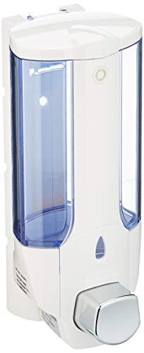 Axentia Seifenspender (zur Wandmontage, nachfüllbarer Flüssigseifenspender, Lotionspender aus Kunststoff, Volumen: ca. 380 ml) weiß