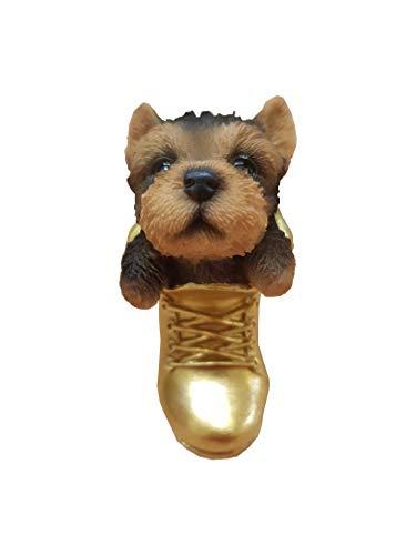 Levendige kunst - Hangende huisdieren - Hangende gouden laarzen Yorkshire Terrier Decoratie (HOR-B12-G)