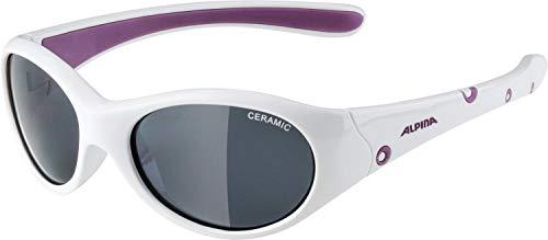 Alpina Unisex Jugend FLEXXY Girl Sportbrille, weiß, One Size