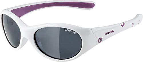 ALPINA FLEXXY GIRL Sportbrille, Kinder, white-purple, one size