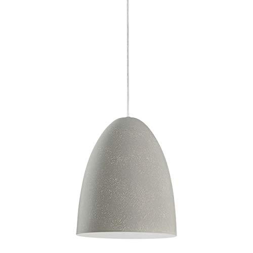 EGLO Pendelleuchte Sarabia, 1 flammige Hängelampe modern, Hängeleuchte aus Metall in Grau mit Beton-Optik, Esstischlampe, Wohnzimmerlampe hängend mit E27 Fassung, Ø 19 cm