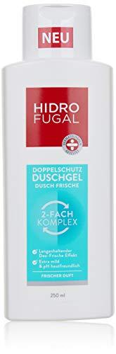 Hidrofugal Duschgel Dusch Frische (250 ml), Doppelschutz Duschgel reduziert Geruchsbildung und beugt geruchsbildenden Bakterien vor, Duschbad mit antibakteriellem Schutz