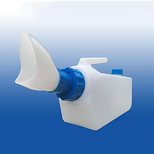 Mannelijke anti-overloop urinefles, draagbare plastic lekvrije plasfles camping toilet, voor oude mannen, ziekenhuisbedden, rolstoel