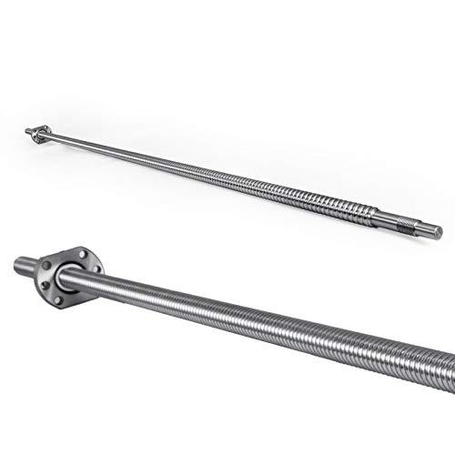 Mophorn SFU1605-1200mm Kugelumlaufspindel Gewindespindel und Mutter 1605 Kugelumlaufspindel 1 Satz für CNC-Schleifmaschinen und 3D-Drucker (1200mm)