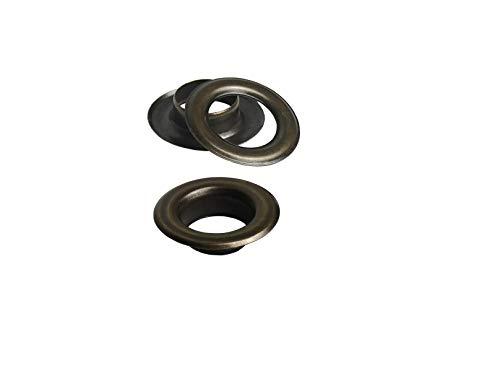 Ista Tools Ösen mit Gegenscheiben, Stahl, in Verschiedene Beschichtungen und Größen (100, 10mm / 19mm Antik)