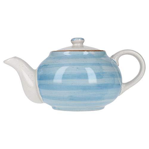 MamboCat Teekanne Colorido I Teekanne Porzellan I Teekanne blau I Porzellan Teekanne mit Deckel I Teapot I Tee-Kanne I hitzebeständig I spülmaschinengeeignet I mikrowellengeeignet I 900 ml