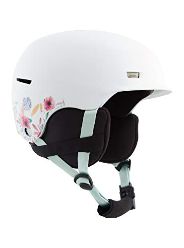 Anon Jungen Flash Snowboard Helm, Flowers White, Mittelgroß