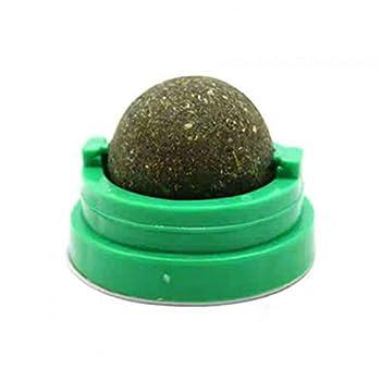 QMYS Balle rotative Naturelle à Base d'herbe à Chat pour Chat Jouet Amusant pour chasser Les sucettes et Les Dents de Chaton