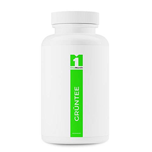 Green Tea Capsules | 30 Vegan Capsules - Green Tea high Dosage | Practical Monthly Pack | Pharmaceutical Quality Produced According to ISO and GMP Standards