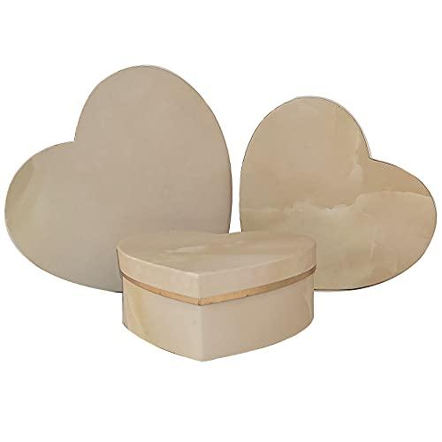 TBoxBo 3 cajas de flores de papel en forma de corazón de mármol para arreglos con tapas caja de regalo de lujo embalaje de regalo de lujo para arreglos