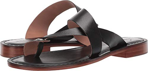 Bernardo Tia Sandal Black Antique Calf 5.5