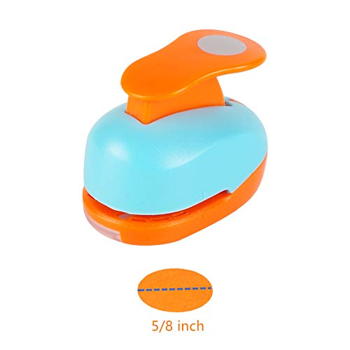 Circle Punch 5/8 inch Craft Lever Punch Handmade Paper Punch Candy Color by Random 5/8 inch Circle