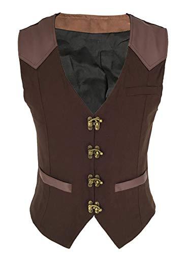 Bslingerie® Steampunk Gothic kostuum vest voor heren