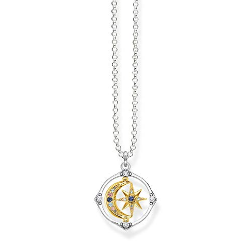 Thomas Sabo Women's Necklace with Pendant Star and Moon Bicolour 50 cm