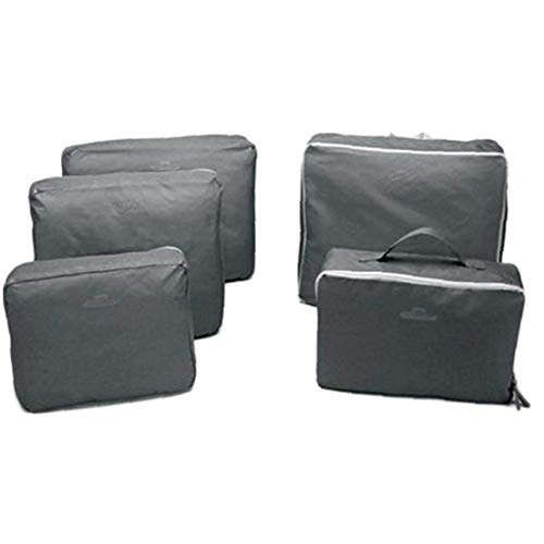 5 Pcs Travel Packing Cubes Set Toiletry Kits Bonus Shoe Bag Luggage Organizers