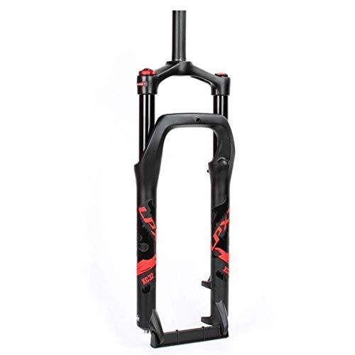 ZXCNB BMX Fat Fork 20/26 Pulgadas MTB Bicicleta Suspensión Horquilla 4.0 Neumático Bicicleta Amortiguador De Aire Ancho del Buje 135 Mm Liberación Rápida 1-1/8'Viaje 105 Mm HL Horquilla De BIC